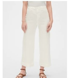 NWT Gap High Rise Wide Leg Crop Chinos 2 c555
